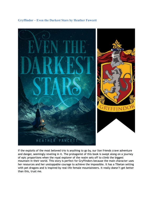 Hogwarts House Book Recommendations (Guest Post by Nandini) 2
