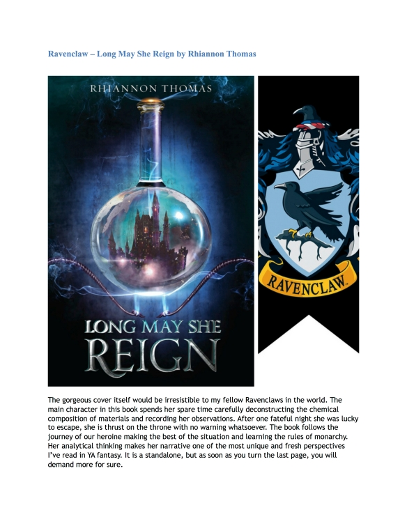 Hogwarts House Book Recommendations (Guest Post by Nandini) 4