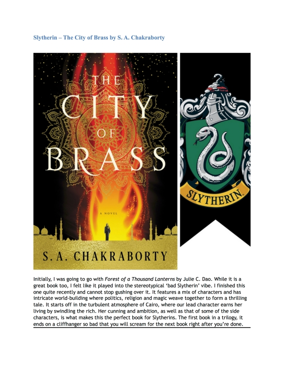 Hogwarts House Book Recommendations (Guest Post by Nandini) 5